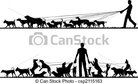Dog walker Vector Clipart Illustrations. 4,580 Dog walker clip art.