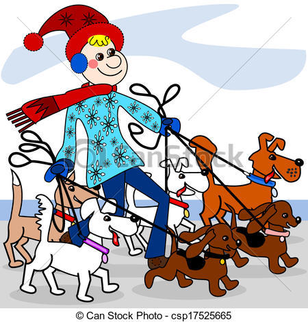 Dog walker Clipart and Stock Illustrations. 5,756 Dog walker.