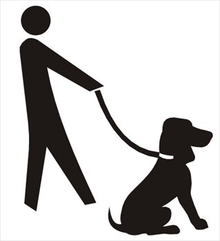 Dog Walking Free Clipart.