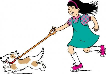 Professional Dog Walking Clip Art, Vector Professional Dog Walking.