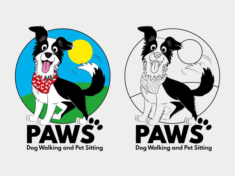 Paws Dog Walking and Pet Sitting Logo by Amber.