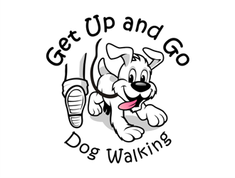 Get Up and Go Dog Walking logo design.