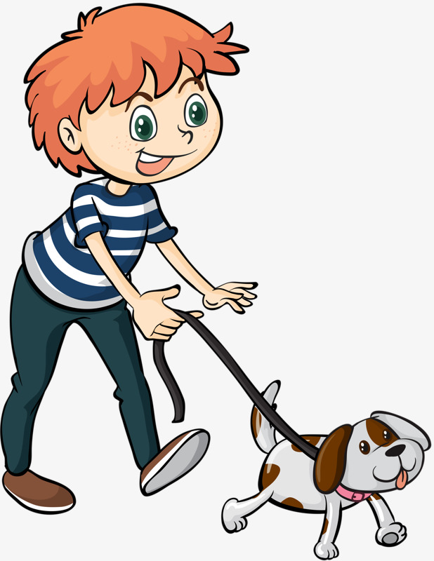 Rotate & Resize Tool: boy clipart dog.