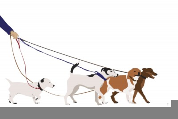 Clipart Dog Walker.