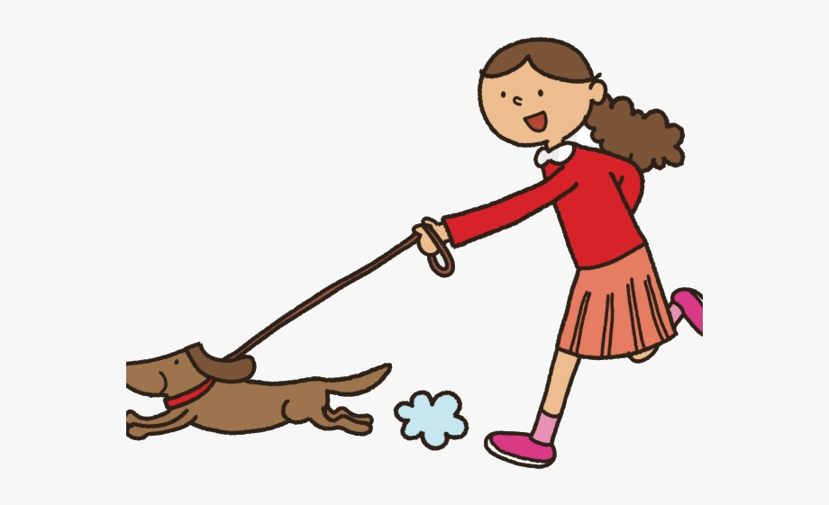 Dog Walking Clipart Walk Transparent Png.