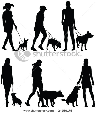 Walking the Dog Silhouettes.