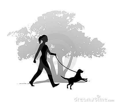 456 Dog Walking free clipart.