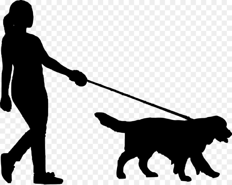 Dog walking Silhouette Clip art Image.