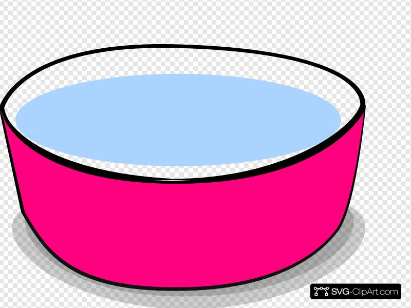 Dog Water Bowl Clip art, Icon and SVG.