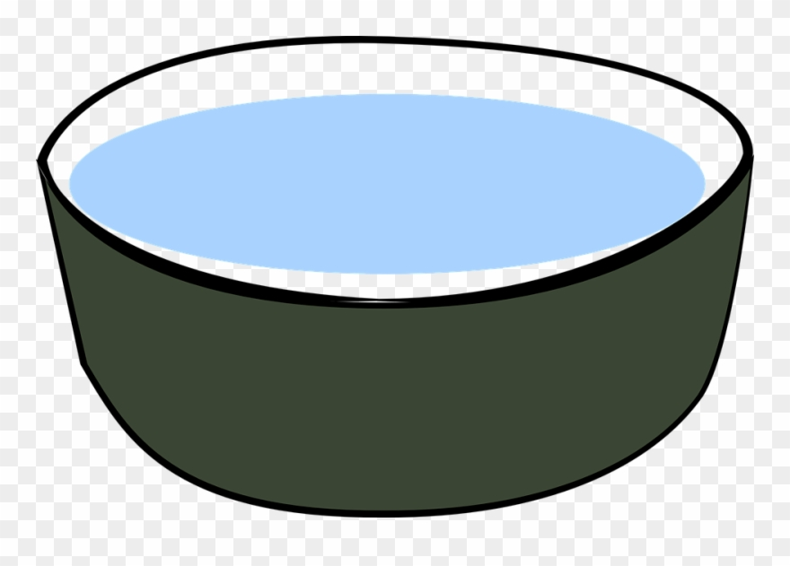 Dog Bowl Free Vector Graphic Bowl Water Drink Dog Pet.