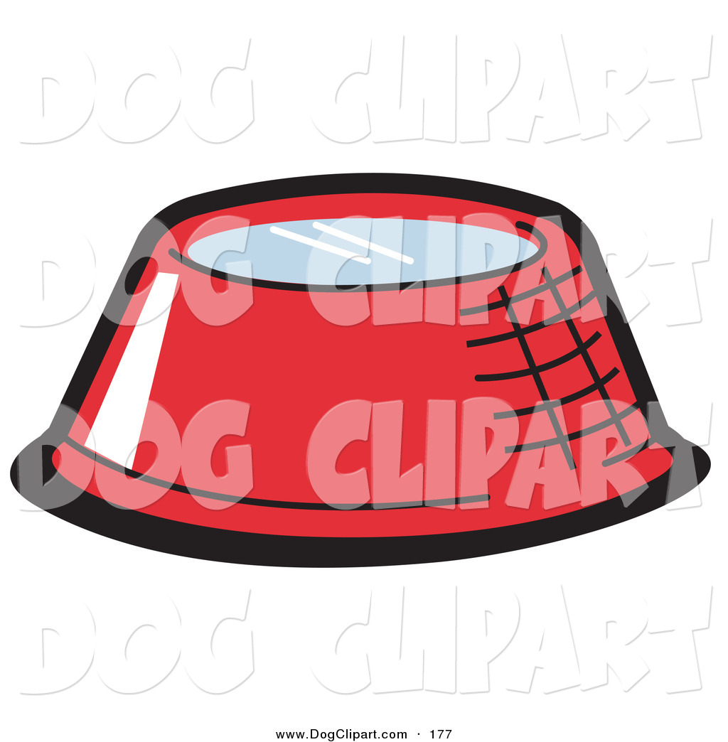 Clipart red dog water bowls.