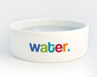 Dog Water Bowl Clipart.