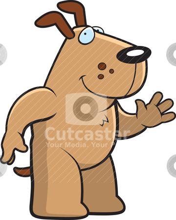 Dog Waving stock vector.