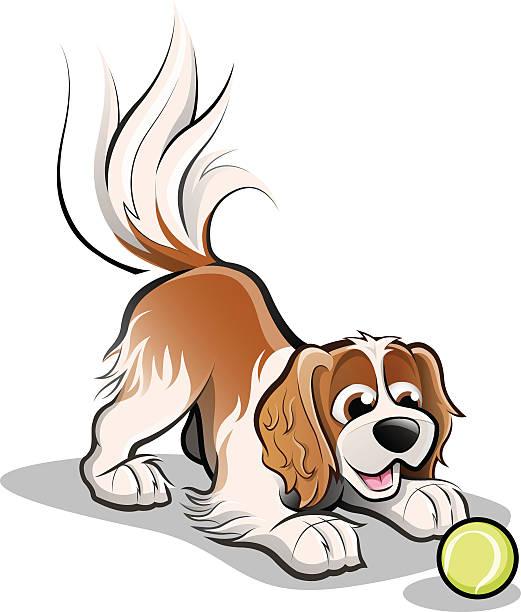 Best Dog Ball Illustrations, Royalty.