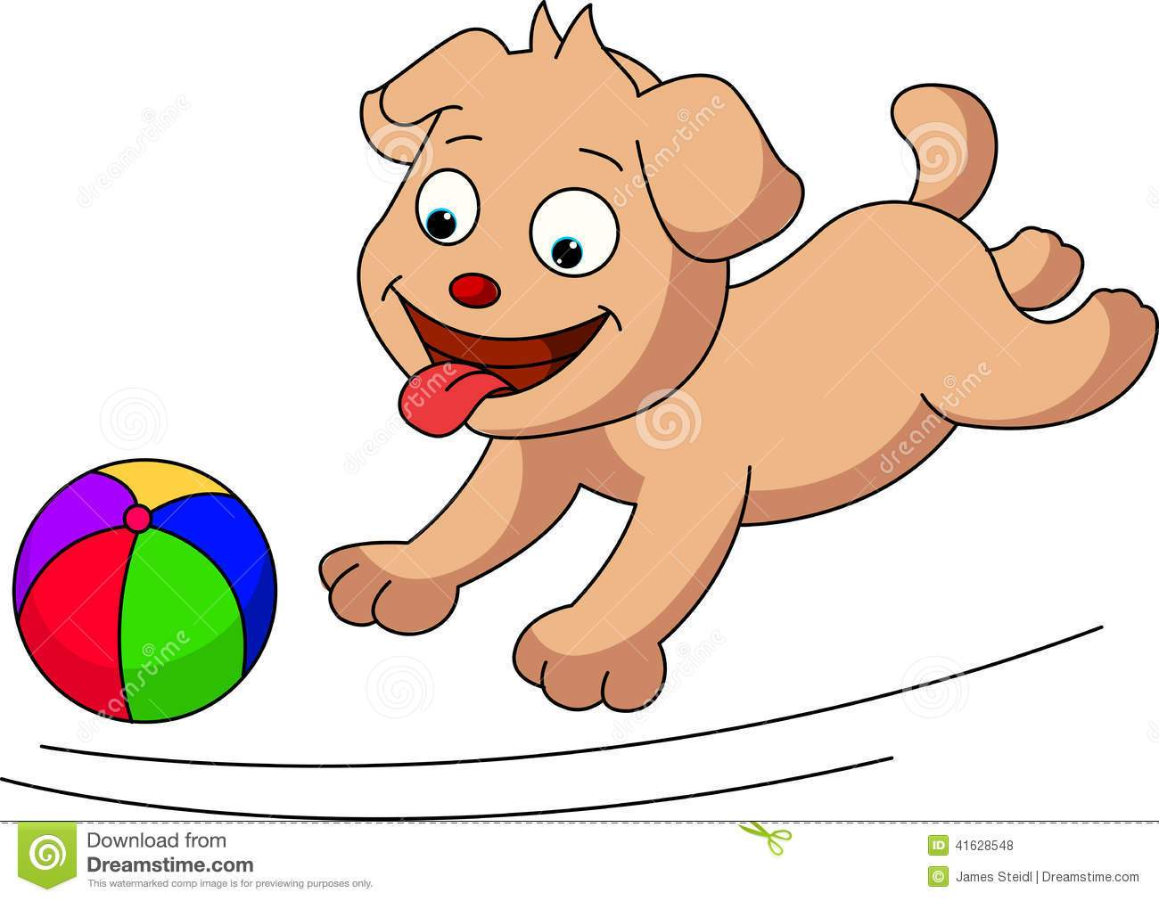 Dog playing with ball clipart 8 » Clipart Portal.