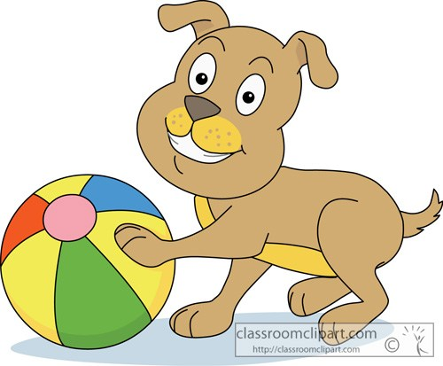 Dog playing with ball » Clipart Portal.