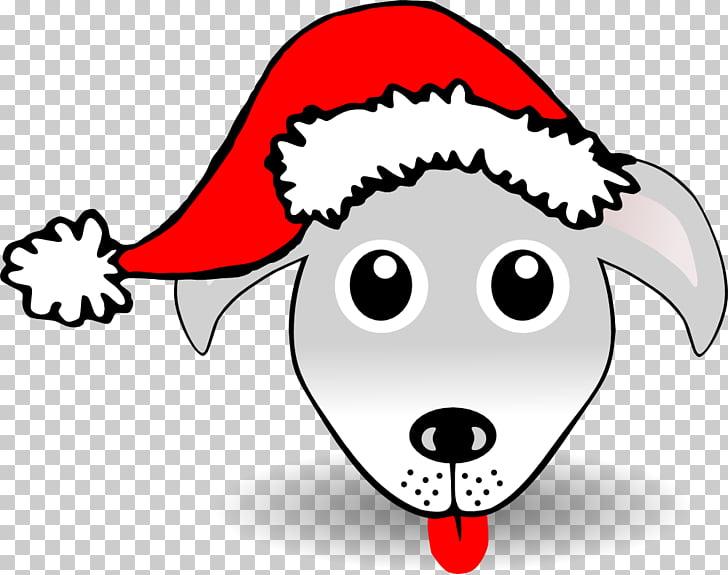 Santa Claus Dog Christmas Hat , Christmas Bulldog s PNG.