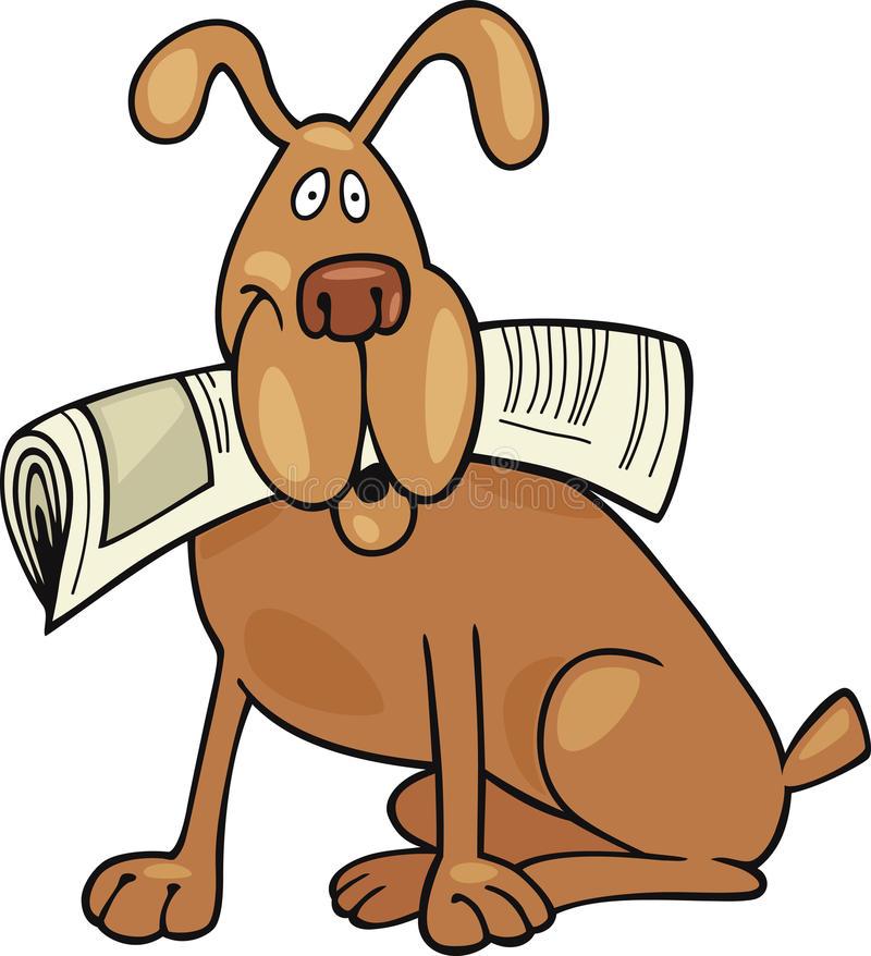 Dog Newspaper Stock Illustrations.
