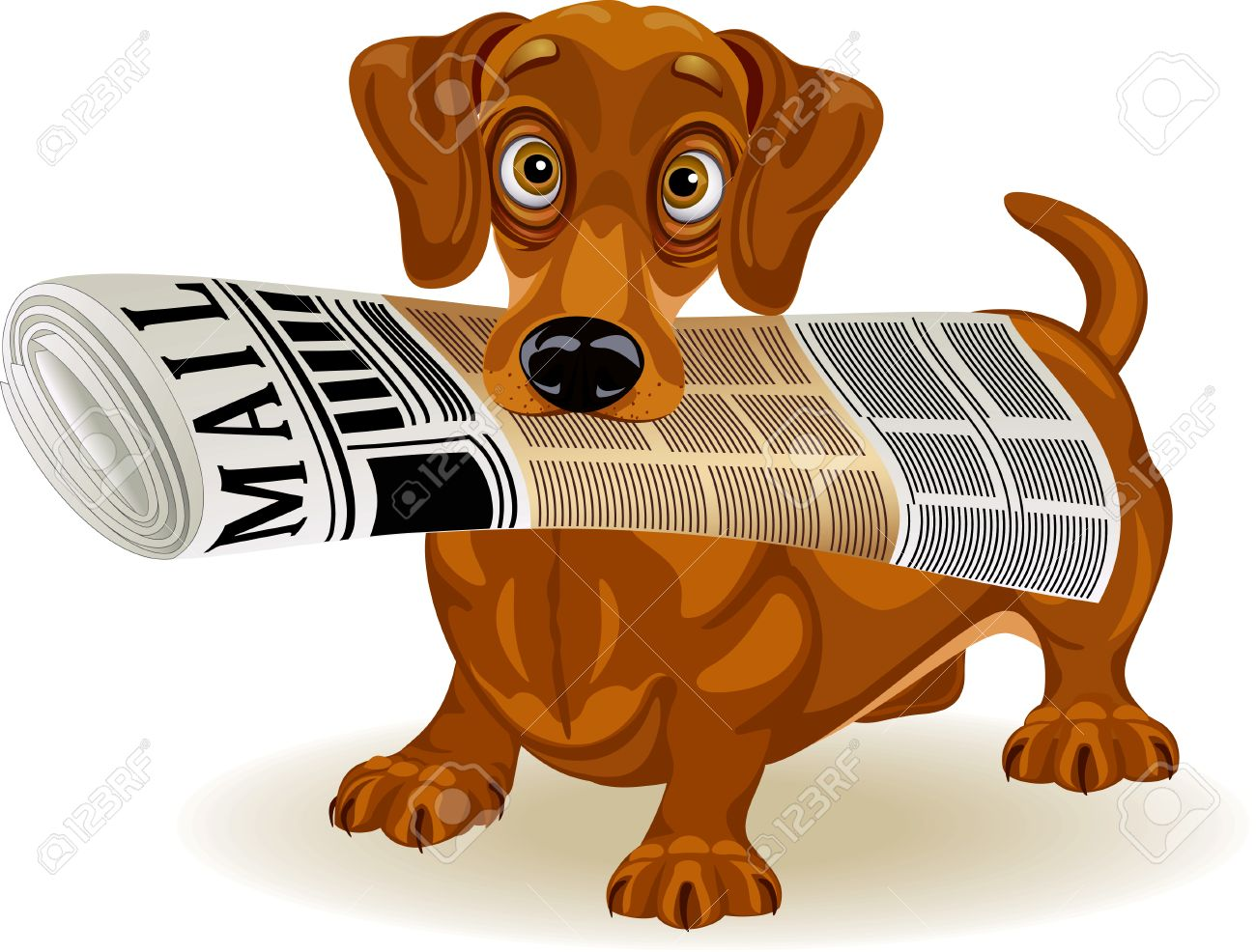 Dog with newspaper clipart 8 » Clipart Station.