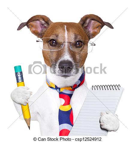 Clipart of secretary dog.