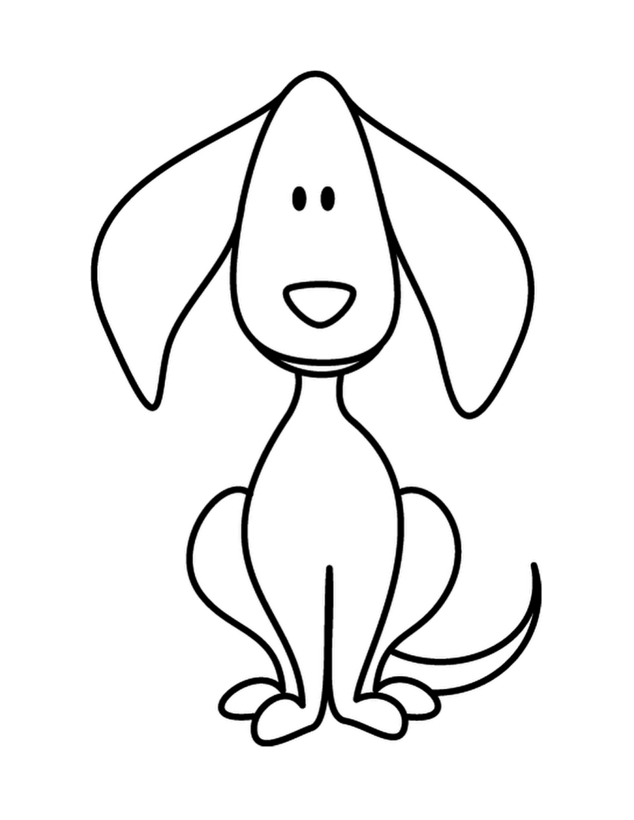 Puppy Dog Doodle Coloring Page.