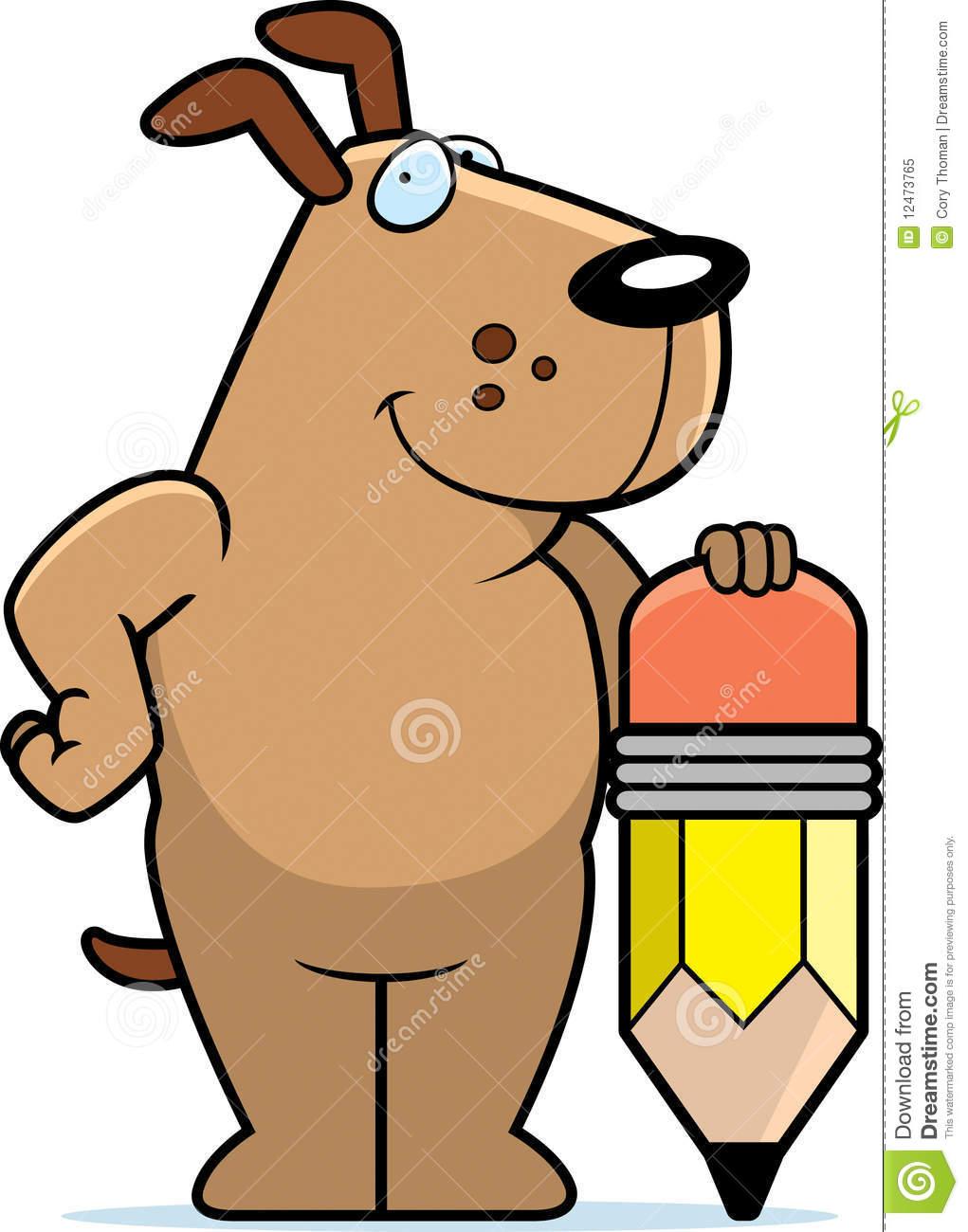 Dog Pencil Royalty Free Stock Photo.