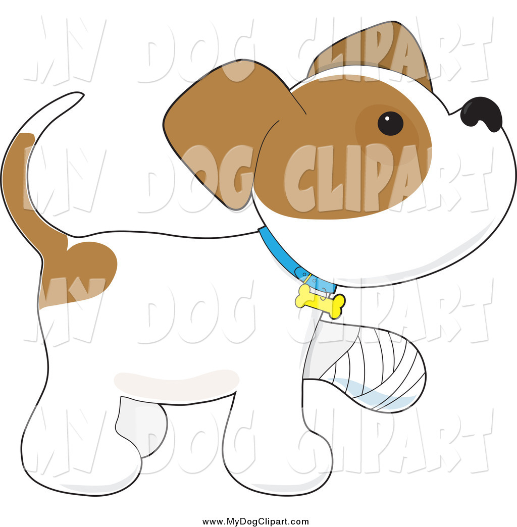 Dog Clipart Hurt Paw.