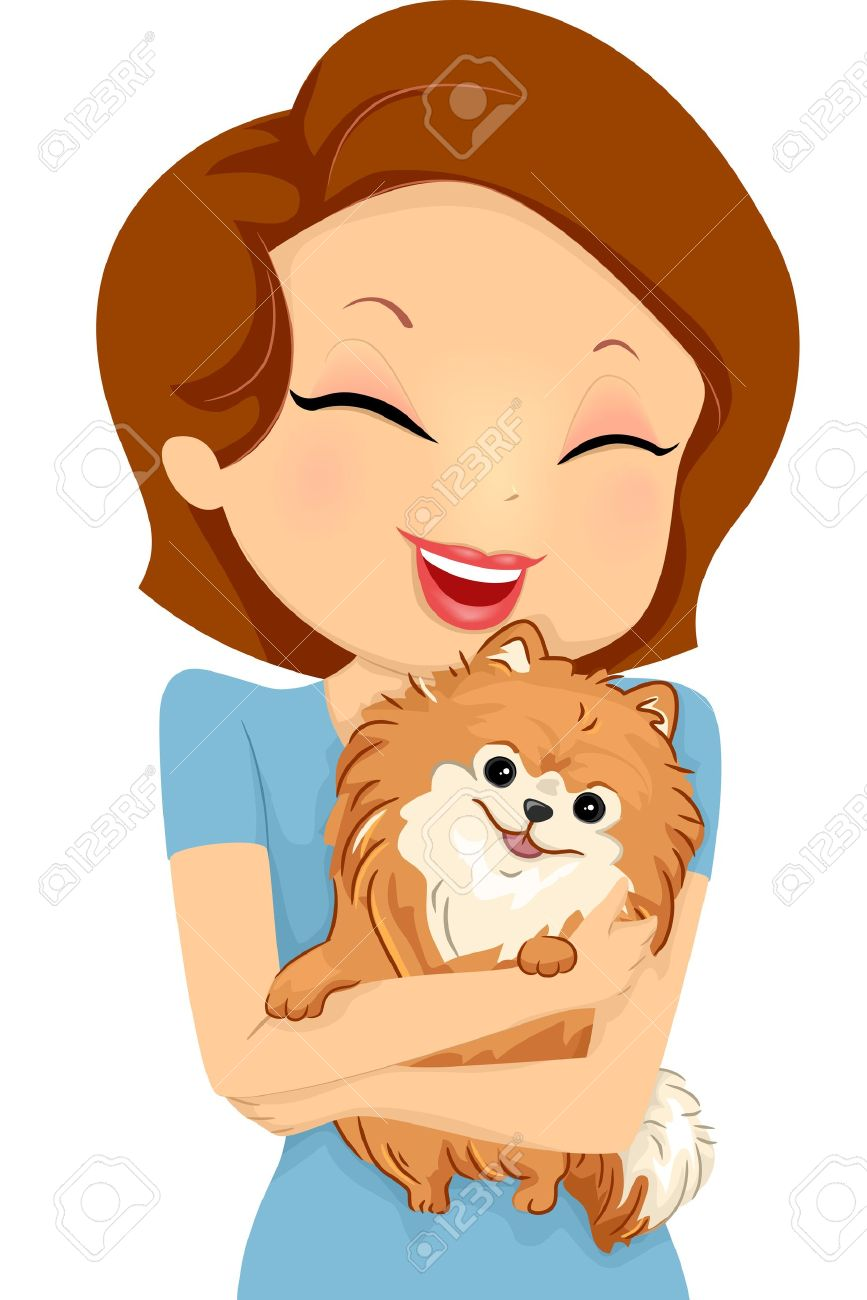 Royalty free dog lovers clipart.