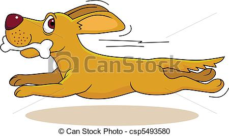 Vector Clipart of dog running csp5493580.