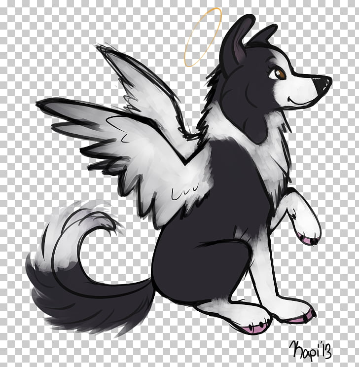 Samoyed dog Drawing Puppy Pet, sketch wings PNG clipart.