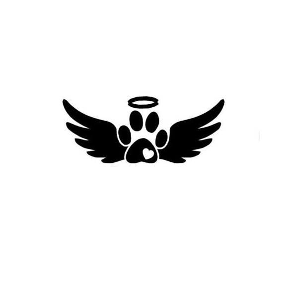 Angel, Furbaby, animal Paw, vinyl decal, Halo, Wings, Animal.