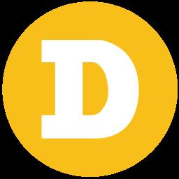 Dogecoin Logo Icon of Flat style.