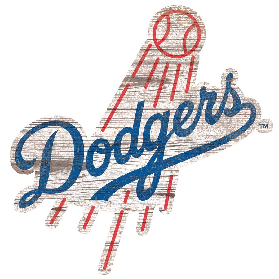 Los Angeles Dodgers 24\'\' x 24\'\' Distressed Logo Cutout Sign.