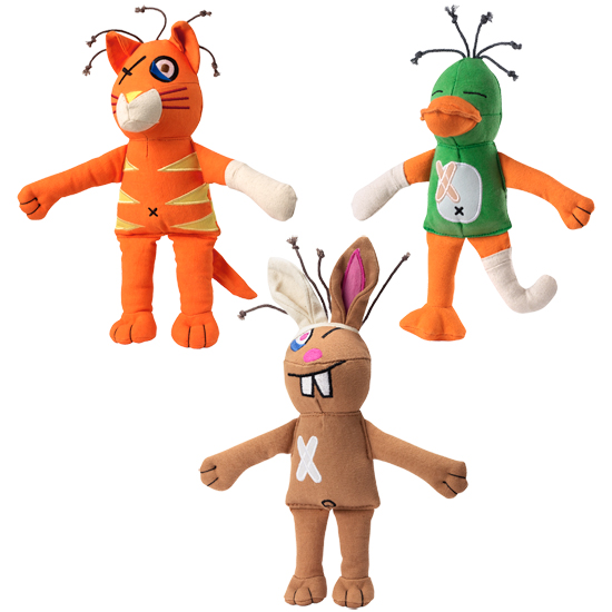 Unique Dog Toys, Cast of Characters from Doggles are Cute and.