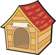 Free clipart dog house.
