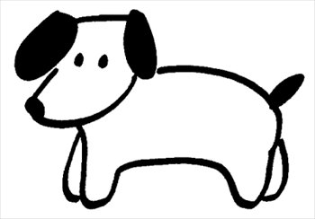Dog outline clipart clip art dogs 2.
