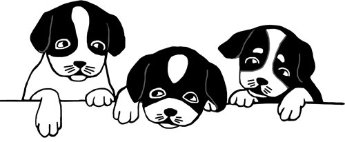Pup PNG Black And White Transparent Pup Black And White.PNG Images.