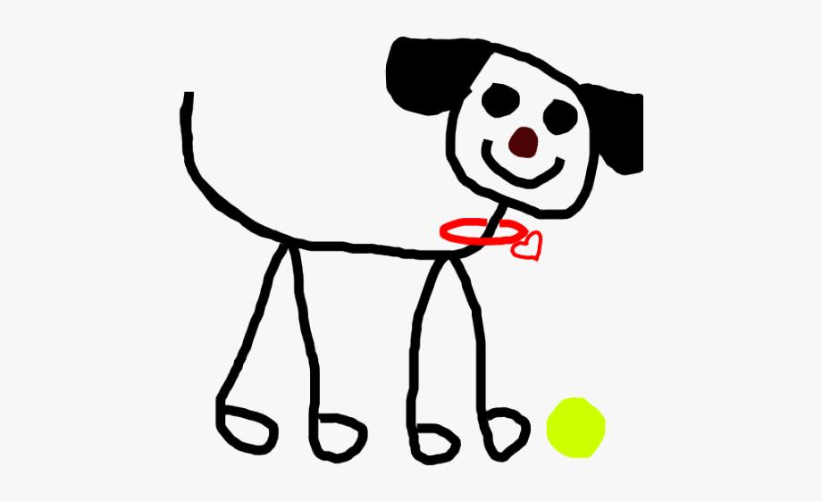 Dogs Clipart Stick Figure.