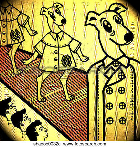 Stock Illustrations of This Dogs Life shacoc0032c.