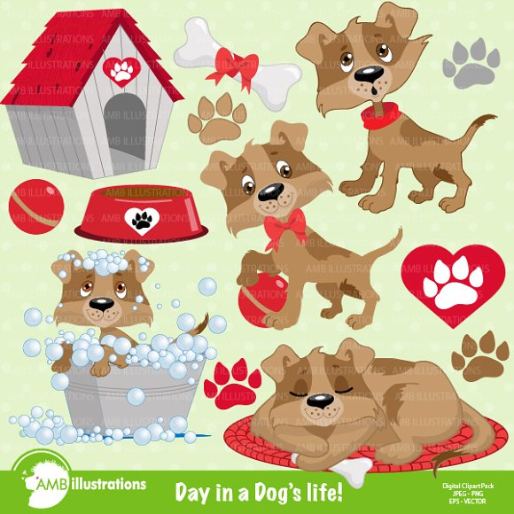 A Dogs Life Clipart AMB.