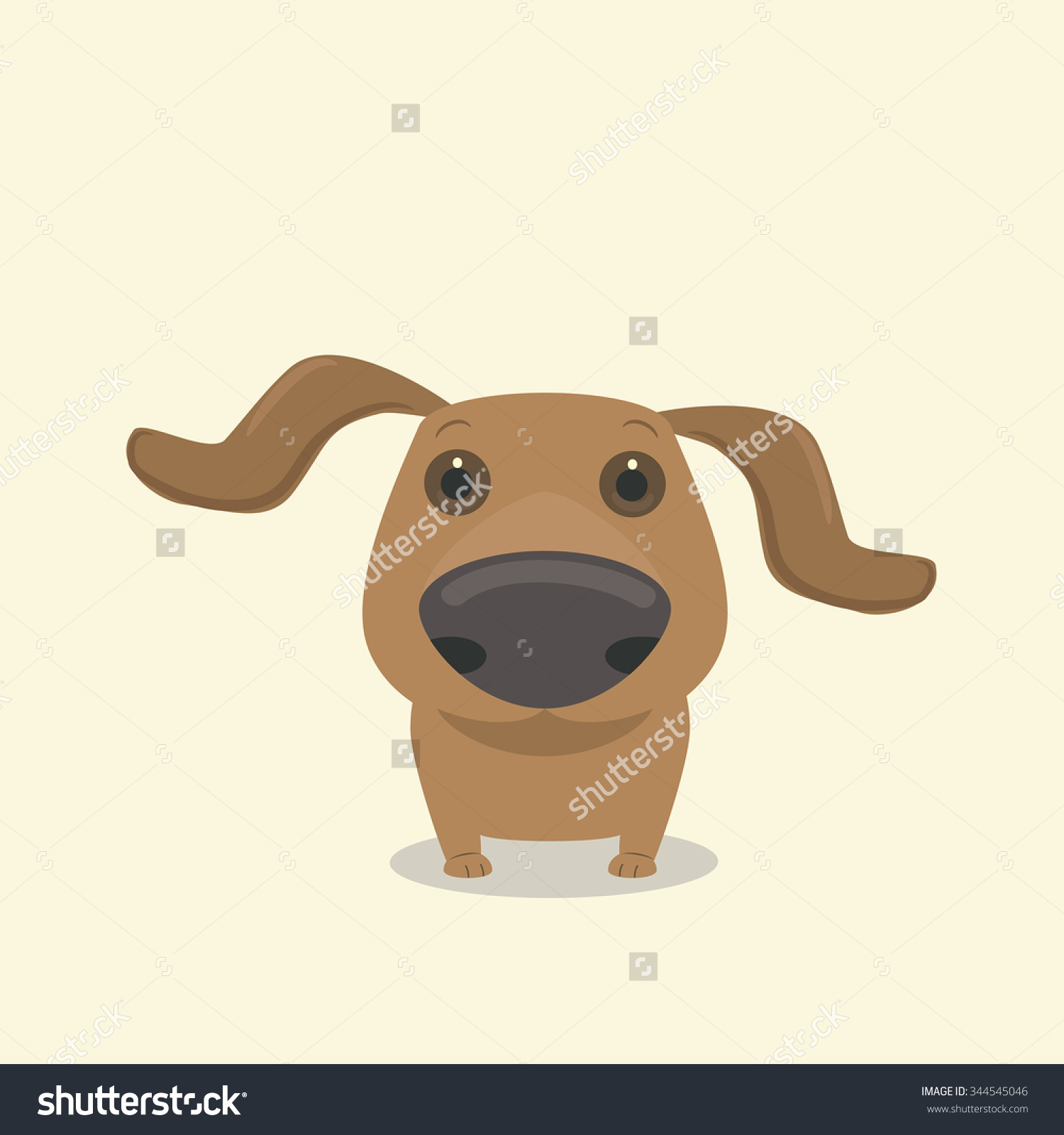 Dog Dachshunds Nose Vector Illustration Can Stock Vector 344545046.