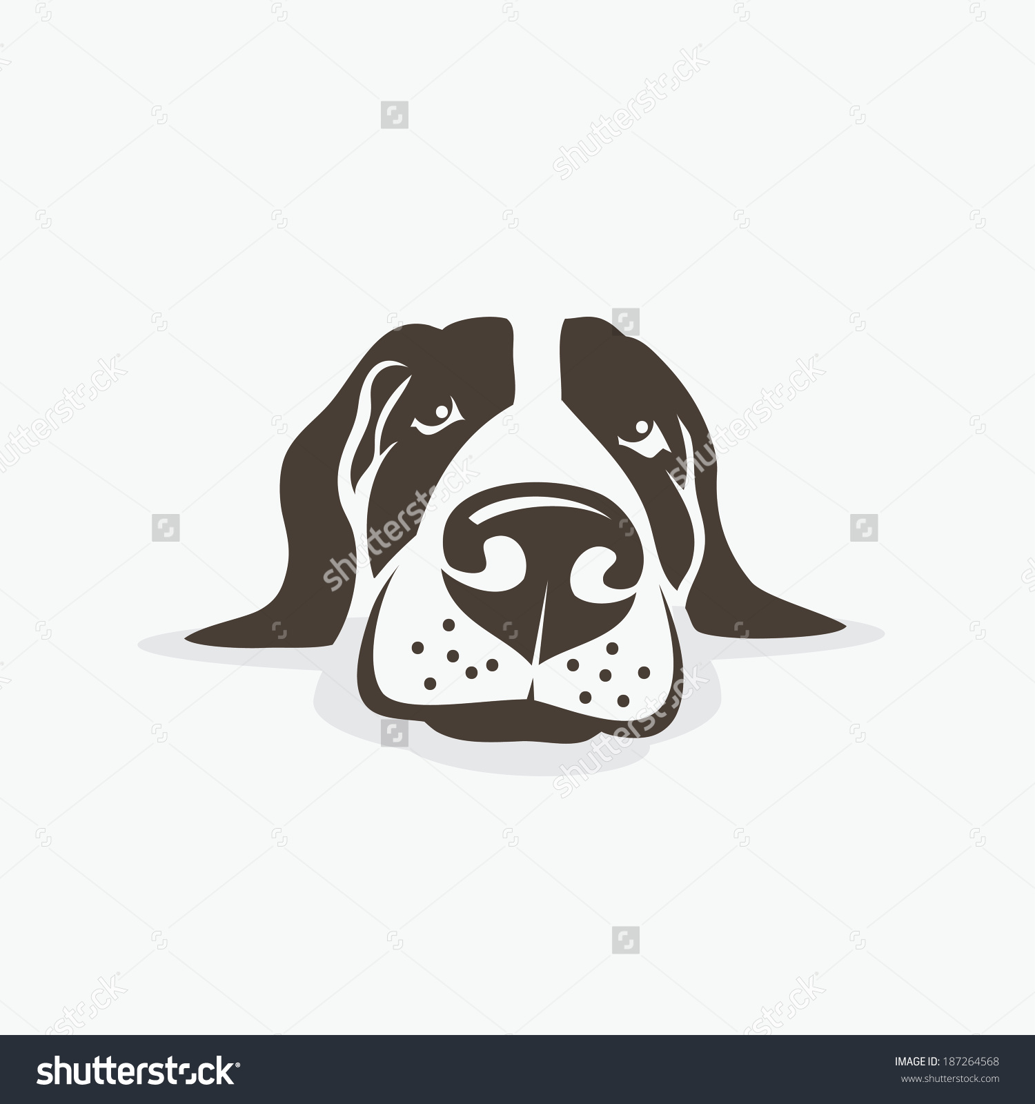 Clipart long nose dog heads.