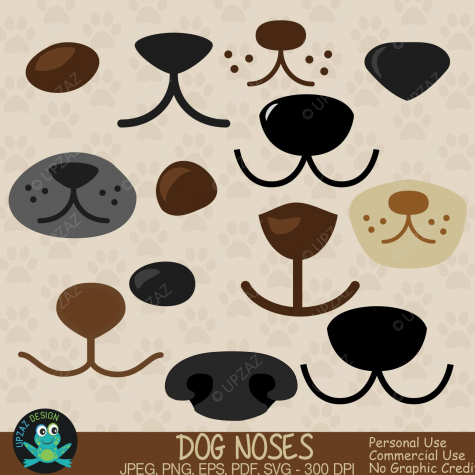 75% OFF SALE Dog Nose Clipart SVG Cutting Files.
