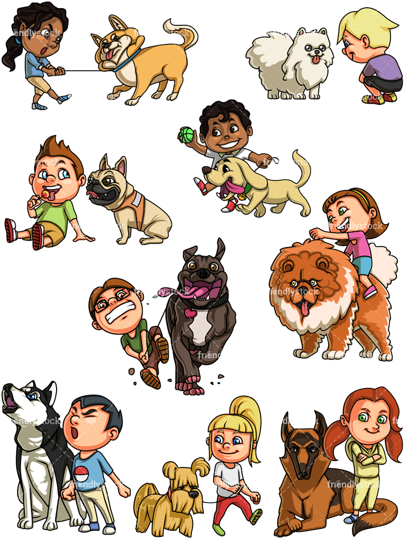 Kids With Dogs Collection.