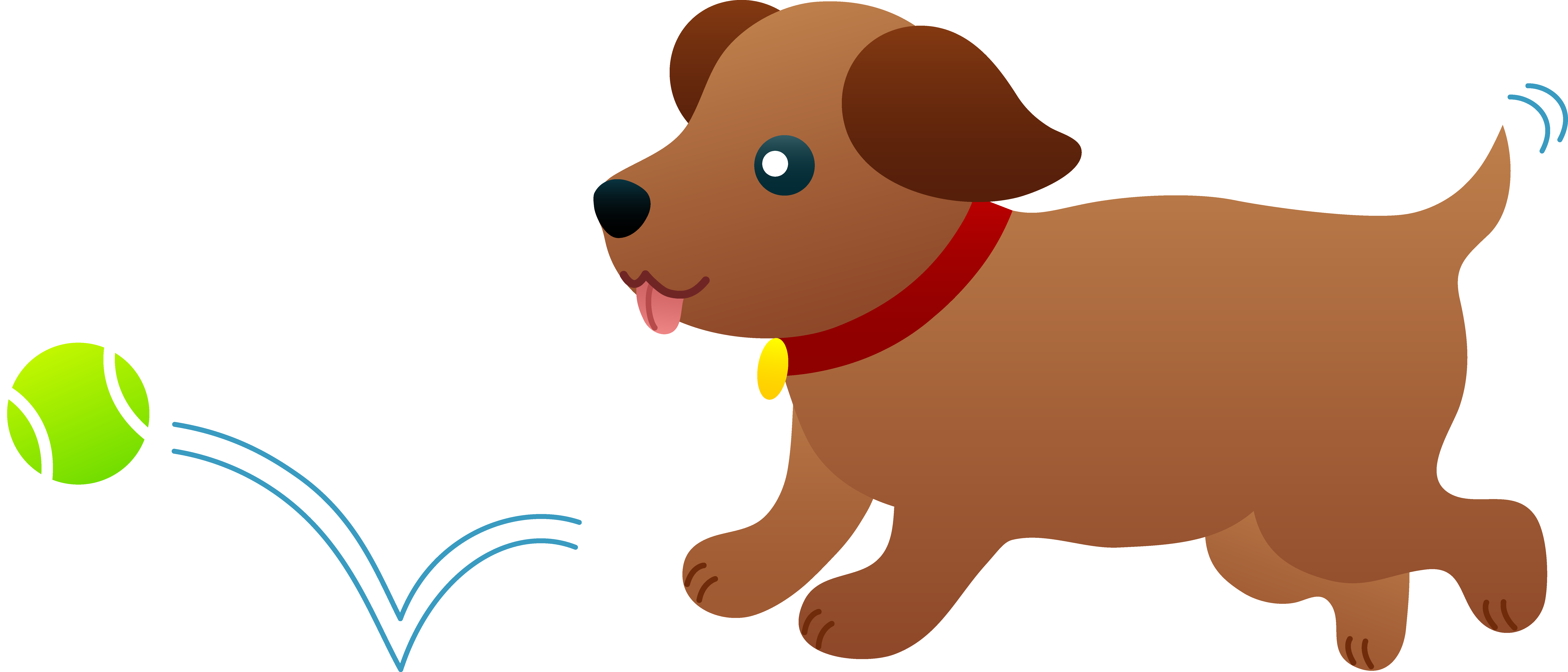 Puppy Playing Fetch.