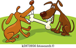Dogs Playing Clipart Vectors.
