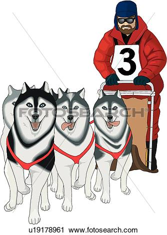 Dog sled Clipart Vector Graphics. 167 dog sled EPS clip art vector.