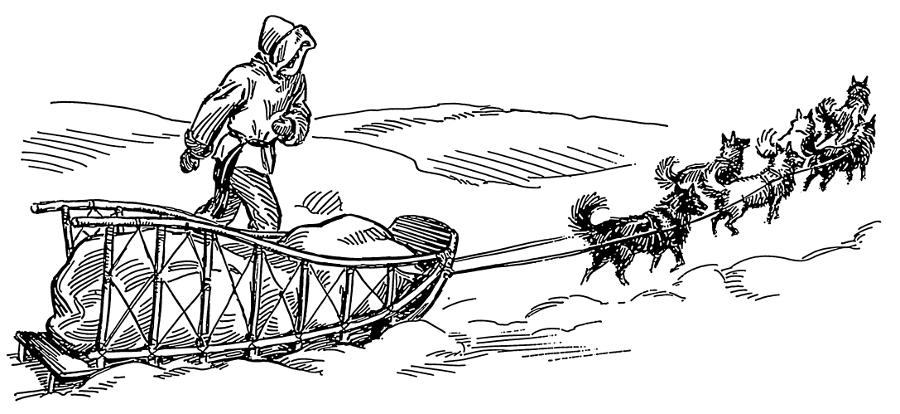 Dog sled clip art.