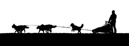 Free dog sled clipart.