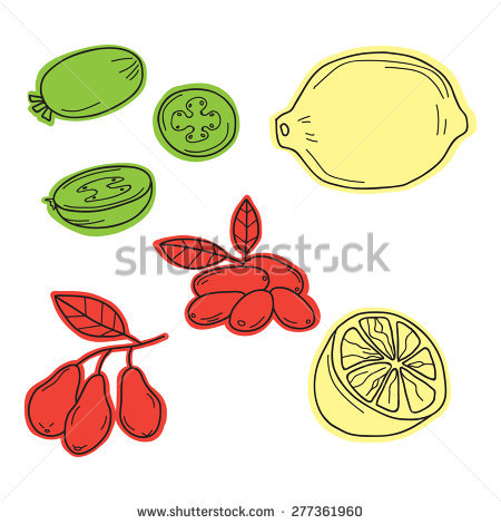 Pineapple Guava Stock Vectors & Vector Clip Art.